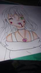 Vampire Girl WIP by Misha444