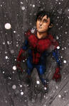 Spiderman Feelin The Rain by HrnArt