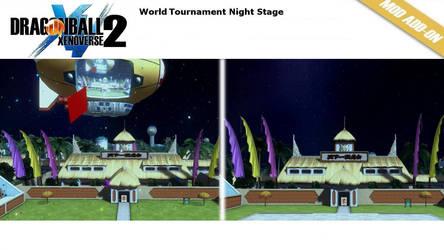 [XV2] World Tournament at Night Stage Pack X2M by diegoforfun