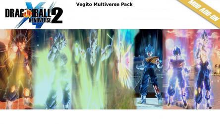 [XV2] Vegito Multiverse Pack v2 (X2M) by diegoforfun