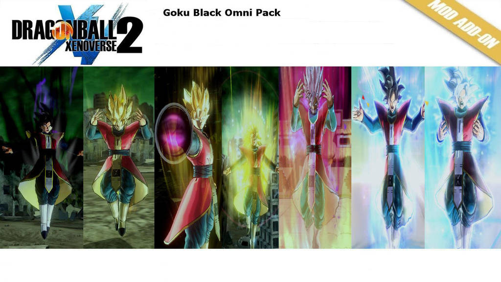 (XV2) Goku Black Omni Pack [X2M] by diegoforfun
