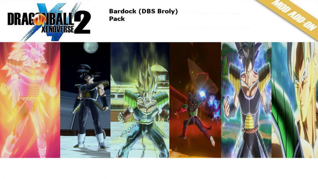 (XV2) Bardock (DBS Broly) Pack [X2M] by diegoforfun