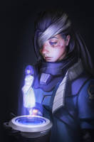 Ana Overwatch Fan Art by Starrrrrrry