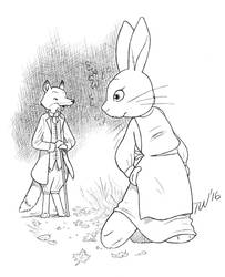 Mrs. Rabbit  Mr. Fox by TaralWayne