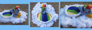 Singing Rainbow Dash plush by the-Gitz