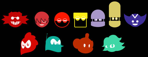 Eggman Empire and crew symbols by the-Gitz