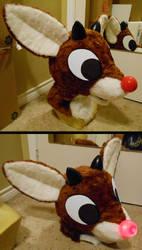 Rudolph fursuit head by the-Gitz