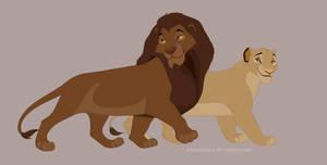Simba's grandparents full body by WhiteKimya