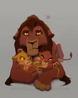 Kovu's wonderful life as a father by WhiteKimya