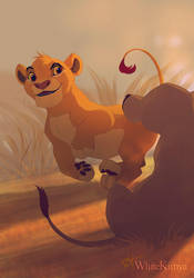 Bet I'm faster than you, Sarabi! by WhiteKimya
