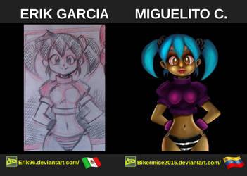 Digital Painting, Comparacion De Personajes 01 by BikerMice2015