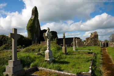 Abbeyshrule Abbey and Graveyard, Longford, Ireland by fluffyvolkswagen