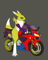 Rena Biker WIP by TonyTheZ