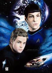 Star Trek - Spock and Kirk by Jeanne-Lui