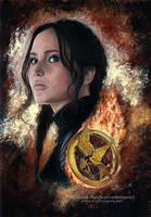 Katniss Everdeen - Mockingjay | Speedpainting by Jeanne-Lui