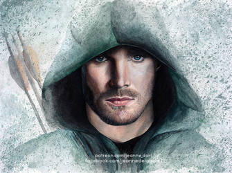 Oliver Queen - 'Arrow' (Stephen Amell) | SpeedArt by Jeanne-Lui