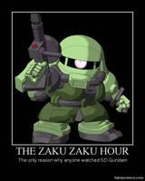 Zaku Zaku Hour motivator by YumaLightning