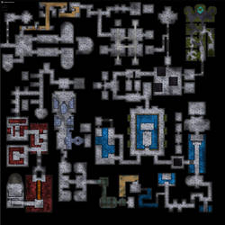 The 104x104 tiles abomination dungeon battlemap by SavingThrower