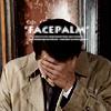 'facepalm' Castiel by nice-demon