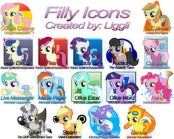 Filly Windows Icons by Liggliluff