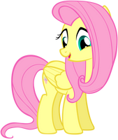 Fluttershy - Glance Down by Liggliluff