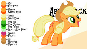 Colour Guide - Applejack by Liggliluff