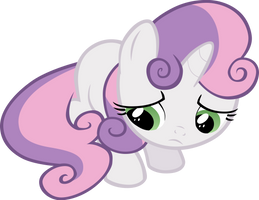 Sweetie Belle - Sad by Liggliluff
