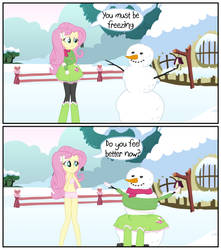 Freezing Snowman by Liggliluff