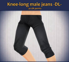 MMD Knee-long Male Jeans 1.0 - Download - by Chilkad