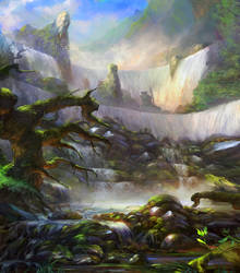 Concept enviro - Waterfall by Grosnez