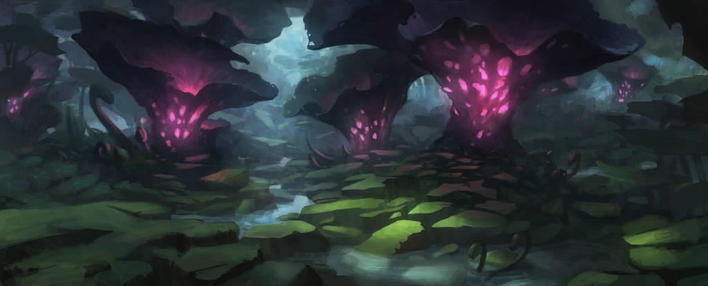 swamp - concept enviro1 by Grosnez
