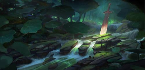 Nasturtium forest - enviro concept 1 by Grosnez