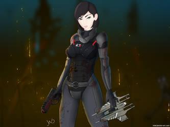 Mass effect, My Shepard by interjectionyeah