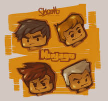Ninjago - Busts by skcolb
