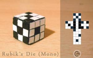 Rubik's Die - Mono by JaffaCakeLover