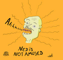 Ned is not amused by JaffaCakeLover