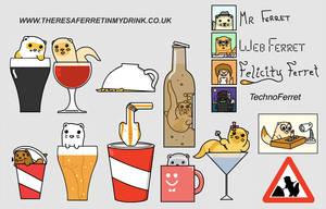 Ferrets in drinks by JaffaCakeLover