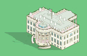 Pixel White House by JaffaCakeLover