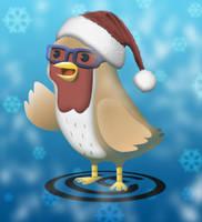 Xmas tweet bird by JaffaCakeLover