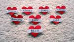 Heart Badges by JaffaCakeLover
