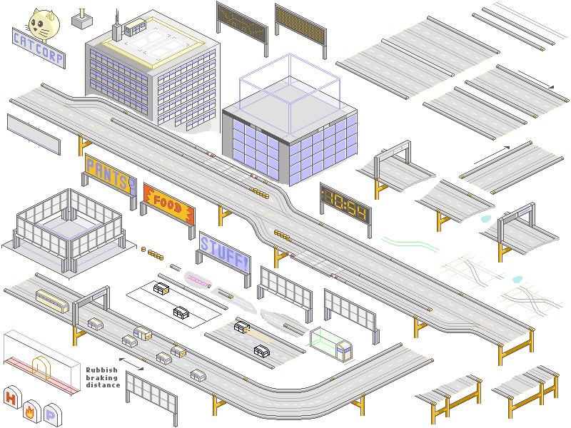 pixelart city sprites 1 by JaffaCakeLover