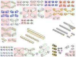 pixelart city sprites 2 by JaffaCakeLover