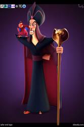 Jafar and Iago by ade2004wally
