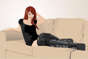 Girl on Couch by hermanmunster