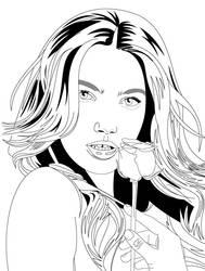Lily Aldrige by hermanmunster