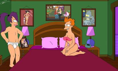 Fry And Leela S Bedroom   Romantic Night By Spider by paulafialhopileggi