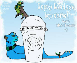 Happy Holidays Aquanite by blue-phoenix