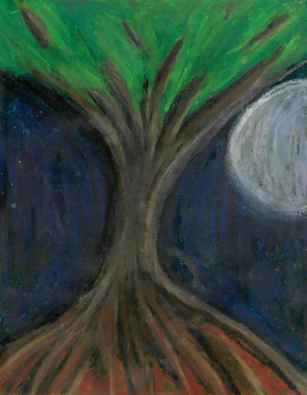 Tree of Life, bigger moon by phoenixreal