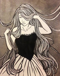 Ink drawing by Misax3Misa