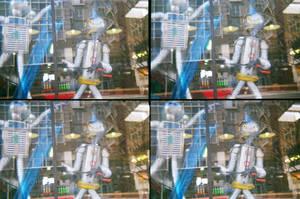 Robots in the Window by afraudandafake
